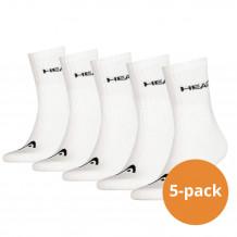 Head Short Crew sokken 5-pack Wit