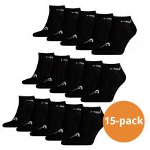Head Sneaker sokken 15-pack Zwart