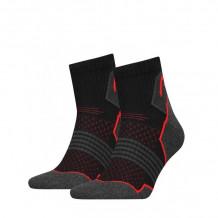 HEAD Hiking Quarter sokken 2-pack Unisex Black/red