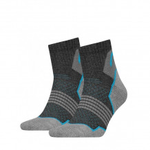 HEAD Hiking Quarter sokken 2-pack Unisex Grey/blue