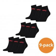 Levi's Quarter Sokken 9-pack Batwing Logo Zwart