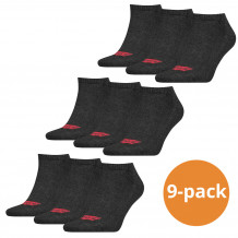 Levi's Sneaker Sokken 9-pack Batwing Logo Antraciet