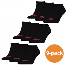 Levi's Sneaker Sokken 9-pack Batwing Logo Zwart