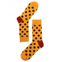 Vrolijke Sokken met Stippen - Orange Brown Dot