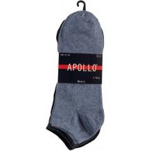 Apollo Heren Sneakersokken Uni Navy 5-pack