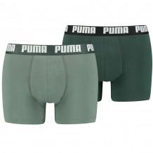 Puma Boxershorts Basic Green Combo 2-Pack voorkant