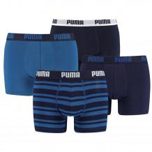 Puma boxershorts Combi Basic/Stripe Blauw  4-Pack