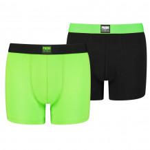 Puma Boys Boxershorts Placed Logo Green Combo 2-Pack