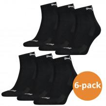 Puma quarter Sokken Zwart 6 paar