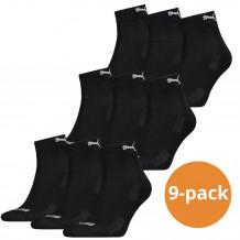 Puma quarter sokken zwart 9 paar