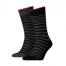 Puma 2-pack Classic Sock Men Black Stripe