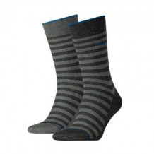 Puma 2-pack Classic Sock Men Antracite Stripe
