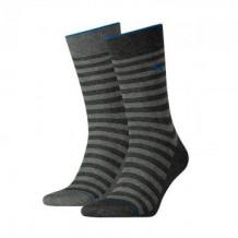 Puma 2-pack Classic Sock Men Antracite Stripe