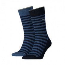 Puma 2-pack Classic Sock Men Denim Blue Stripe