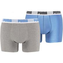 Puma Basic Boxershort 2-Pack Blue/Grey
