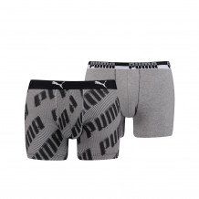 Puma basic boxer AOP black 2-pack