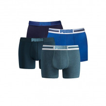 Puma boxershorts Placed Logo 4-pack Blauw/Denim
