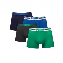 Puma boxershorts Placed Logo 4-pack Blauw/Groen