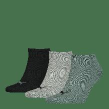 Puma Sneakersokken Unisex Plain Balsam Green/ Grey Melange Black 3-Pack