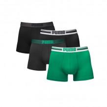 Puma boxershorts Placed Logo 4-pack Zwart/Groen