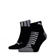 Puma sokken quarter logo heren Black 2-pack