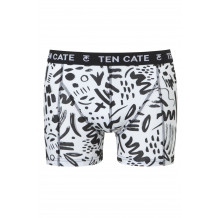 Ten Cate Men Printed Shorts 3224 Scratch White
