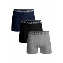 Muchachomalo boxershorts Solid 3-pack
