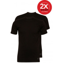 Ten Cate 2-Pack Basic T-shirts Ronde Hals Zwart