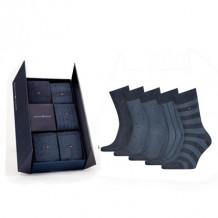 Tommy HilfIger Men Sokken Giftbox Birdeye Jeans 5-Pack