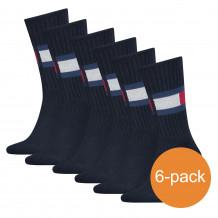 Tommy Hilfiger Sokken 6-pack Flag Dark Navy