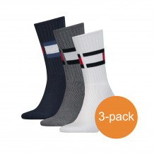 Tommy Hilfiger Sokken 3-pack Flag Middle Grey Melange/Navy/White