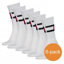 Tommy Hilfiger Sokken 6-pack Flag Dark White