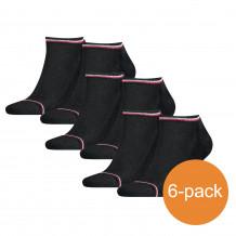 Tommy Hilfiger Sneakersokken Heren 6-pack Iconic Sneaker Black