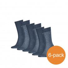 Tommy Hilfiger Sokken Heren 6-pack Small Stripe Jeans