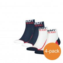 Tommy Hilfiger Quarter Sokken 4-pack Uni TJ White/Navy