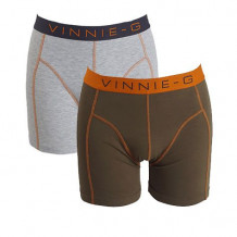 Vinnie-G boxershorts Military Olive Uni 2-pack