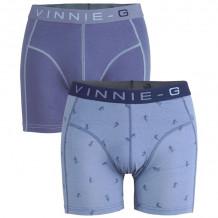 Vinnie-G boxershorts Ski Blue - Print 2-pack