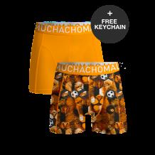 Muchachomalo boxershorts Oranje EK 2021 editie met gratis sleutelhanger