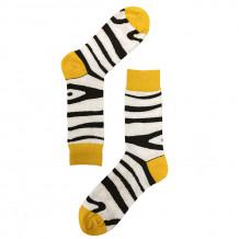 Vrolijke Sokken met Zebraprint - Zebra Safari
