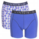 Vinnie-G boxershorts Royal Blue - Print 2-pack