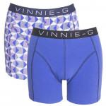 Vinnie-G boxershorts Royal Blue - Print 2-pack