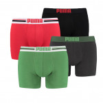Puma Placed Logo 4-pack Groen/Rood