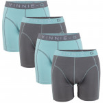 Vinnie-G boxershorts Mint - Grey 4 - Pack