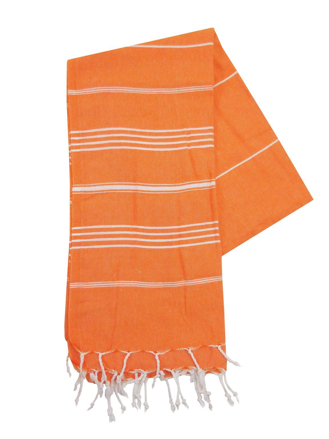 The One Towelling Hamamdoek Oranje Wit