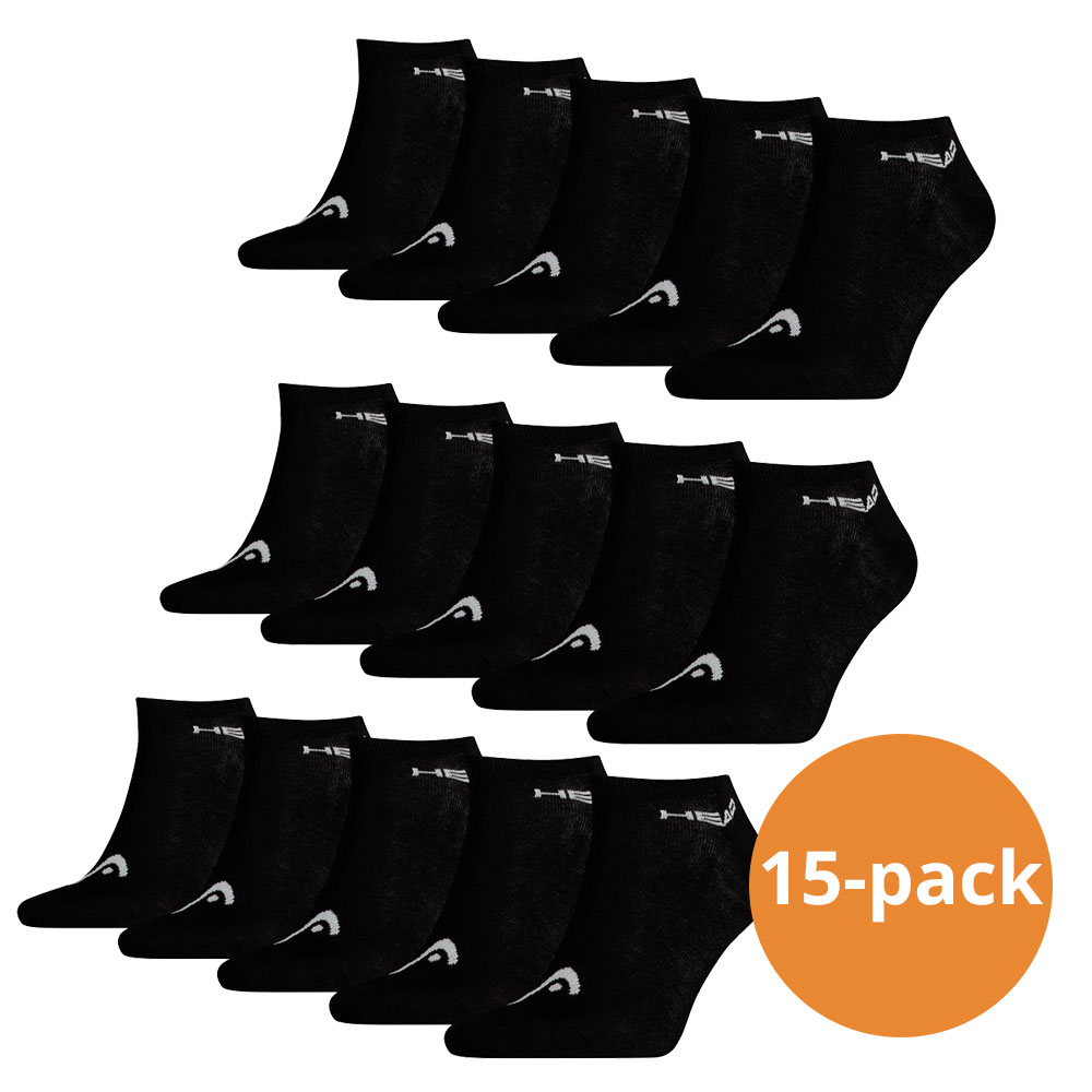 Head Sneaker sokken 15 pack Zwart 43 46