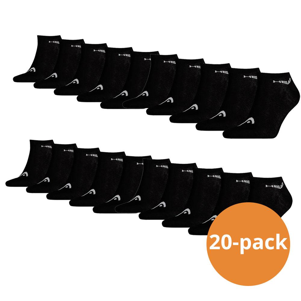 Head Sneaker sokken 20 pack Zwart 39 42