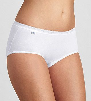 Sloggi basic   midi wit merk: sloggi inhoud: midi slip materiaal: 95% katoen & 5% elastaan kleur: wit ...