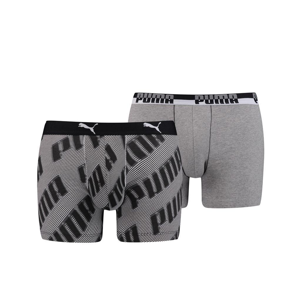 Puma basic boxer AOP black 2 pack XL