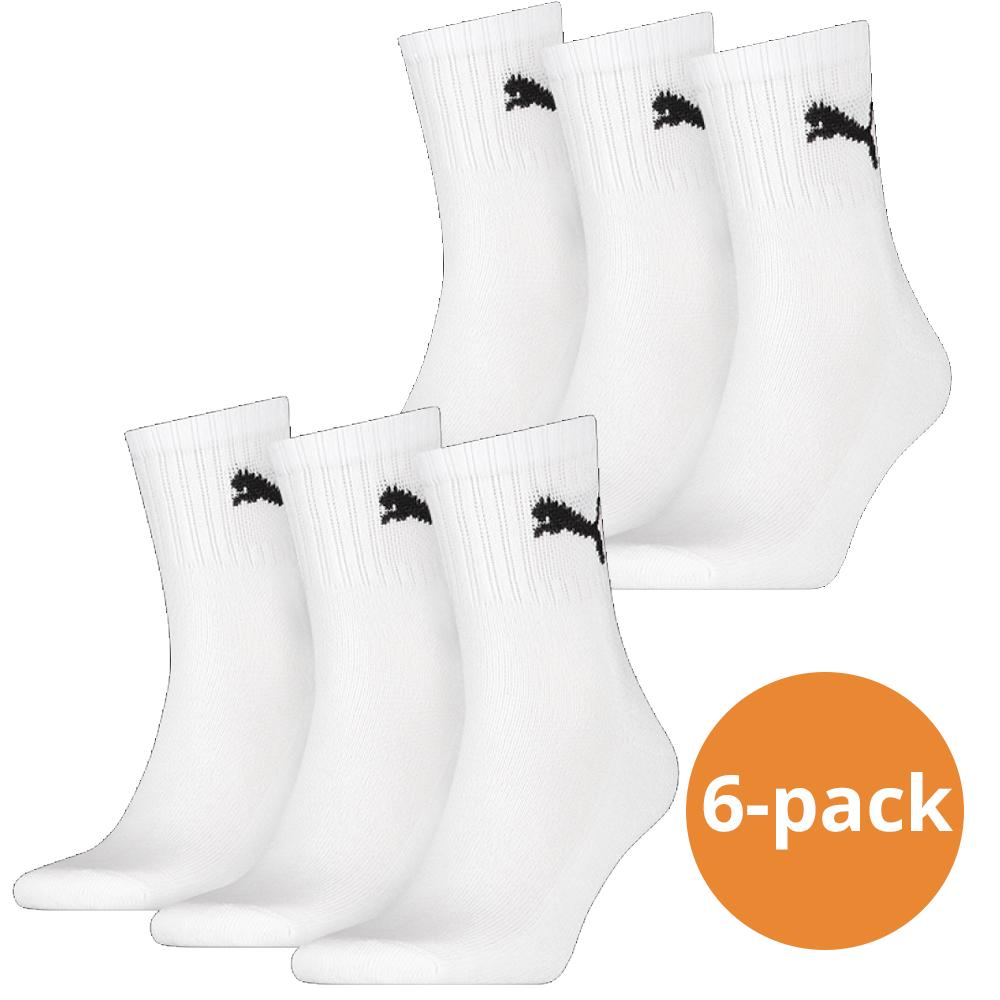Puma sokken Sport wit 6 pack 35 38