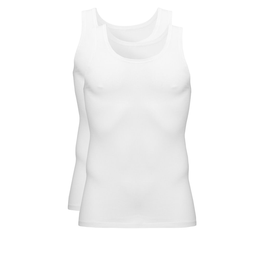 Ten Cate Basic Cotton Singlet 2 pack Wit M